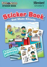 God Made Kittens - Sticker Book   -     By: Kathryn Marlin (Illustrator)     Illustrated By: Kathryn Marlin