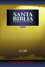 NVI Santa Biblia Letra Gigante Tela Negro Indice, NVI Bible  Giant Print Black Thumb-Indexed