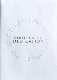 Abingdon Select Collection Certificate - Baby Dedication  -