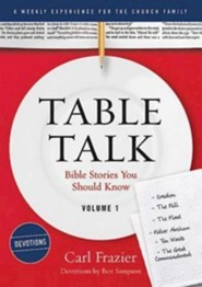 Table Talk Volume 1 - Bible Stories You Should Know - Devotions  -     By: Carl Frazier
