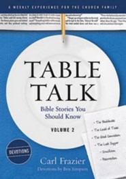 Table Talk Volume 2 - Bible Stories You Should Know - Devotions  -     By: Carl Frazier