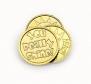 VBS 2013 Hip-Hop Hope: Jesus Makes Me Glad! - You Shine Coins (Pkg of 144)  - 