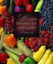 We Give Thanks Thanksgiving Bulletins, Large Size (Package of 50)