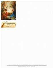 Wonderful Counselor Christmas Nativity Letterhead (Package of 50)