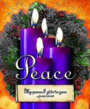 Advent Sunday 4 Purple Bulletins, Large Size (Package of 50)