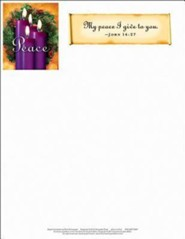 Advent Purple Letterhead (Package of 50)  -
