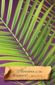 Hosanna Palm Sunday Bulletins (Package of 50)