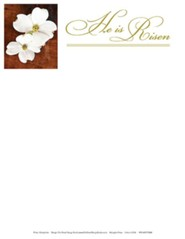 He is Risen Easter Dogwood Letterhead (Package of 50)