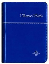 Santa Biblia-Rvr 1960-Zipper, Vinyl, Blue  -     By: United Bible Societies