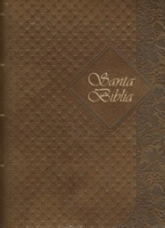 Santa Biblia-Rvr 1960, Imitation Leather, Coffee, Thumb Index