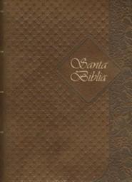 Santa Biblia-Rvr 1960, Imitation Leather, Coffee, Thumb Index