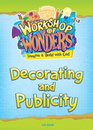 2014 VBS Workshop of Wonders: Imagine a Build with God - Decorating and Publicity CD-ROM - Slightly Imperfect