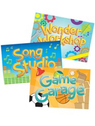 2014 VBS Workshop of Wonders: Imagine a Build with God - Activity Center Signs & Publicity Pak