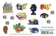 VBS 2014 Praise Break: Celebrating the Works of God! Pack of 12 Activity Stickers Sheets