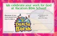 VBS 2014 Praise Break: Celebrating the Works of God! - Pack of 10 Leader Certificates