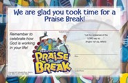 VBS 2014 Praise Break: Celebrating the Works of God! - Pack of 25 Student Certificates