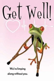Get Well Frog Postcard (Package of 25)