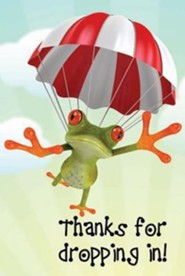 Thanks for Dropping In Frog Postcard (Package of 25)