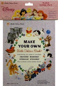 Disney Princess Make Your Own Little Golden Book [With Stickers and Crayons and Markers and Stencils]