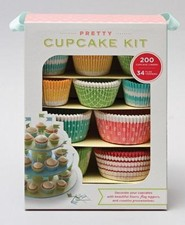 Pretty Cupcake Kit [With Cupcake Liners, Flag Toppers and Booklet]  -              By: Anne Donnard