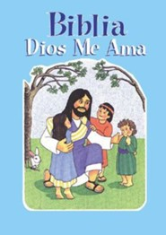Biblia Dios me ama, Azul, God Loves Me Bible, Blue  -