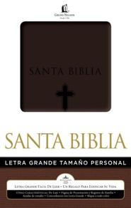Biblia Letra Grande Tam. Personal RVR 1960, Piel Imit. Marron  (RVR 1960 Giant Print Pers. Size Bible, Brown Imit. Leather)