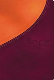 The Voice Full Bible, Leathersoft, Plum/Orange Shimmer