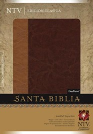 NTV Santa Biblia, Dos tonos Cafe claro & Caf&#233, NLT, Holy Bible, Two Tone, Brown & Light Brown  -