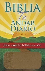 Biblia tu andar diario, Piel. Esp. color almendra, Your Daily Walk Bible, Bonded Leather Almond