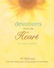 Devotions From The Heart: 100 Reflections on the Ways God's Love Keeps Us Growing, Devotional and Companion Journal  -     By: Pamela Kennedy