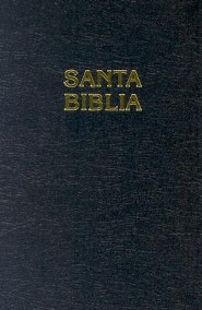 Spanish Pew Bible-RV 1960, Paper Over Board, Black