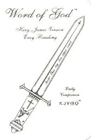 KJV Easy Reading Sword Bible-Pocket, Bonded Leather, White
