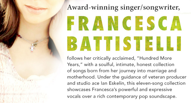 Francesca Battistelli New Album and Sale