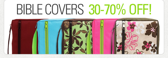Bible Covers 30-70% off!