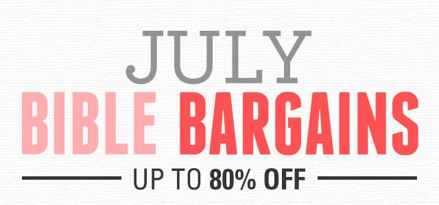 July BIble Bargains