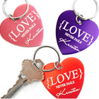 Personalized Heart Keyrings