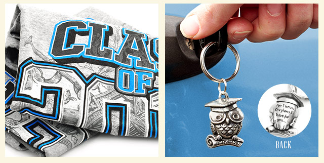 image of class of 2014 t-shirt and key ring