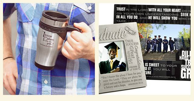 image of graduation mug and picture frames
