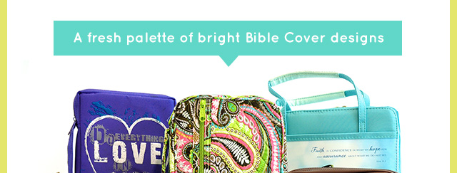 A fresh palette of bright Bible Cover designs