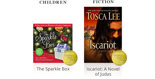 Children Winner - The Sparkle Box; Fiction Winner - Iscariot: A Novel of Judas