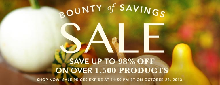 Bounty of Savings SALE