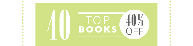 40 Top Books 40% OFF