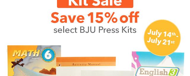 BJU Press Kit Sale