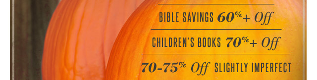 Spectacular Savings for Fall