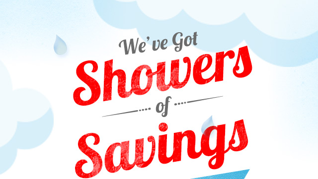 Showers of Savings