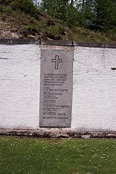 Memorial to members of German resistance, including Dietrich Bonhoeffer, executed at Flossenberg on April 9, 1945