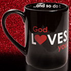 Black & Red<br>Love Mug