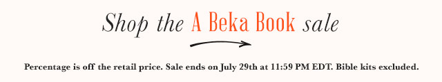 Shop the A Beka Book sale