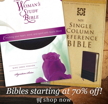 Bibles Starting at 70% Off