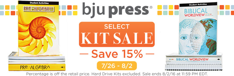 BJU Press Kit Sale